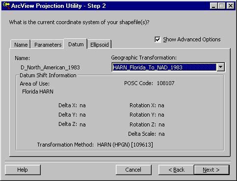 [O-Image] GCS HARN to FL_East NAD83 step 2b