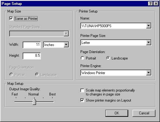 [O-Image] ArcMap page setup (ex. of good, SAP page setup)