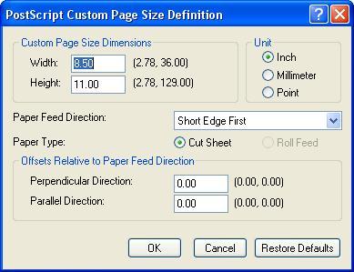 [O-Image] HP PostScript Custom page size