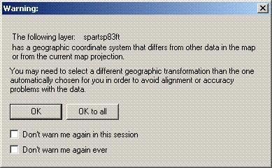 [O-Image] ArcMap 8.x, 9.0, 9.1 Warning dialog