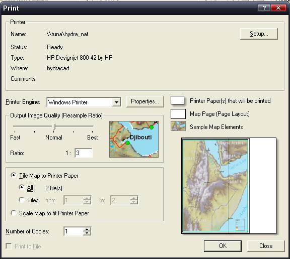 [O-Image] ArcMap 9.x Print dialog: paneling