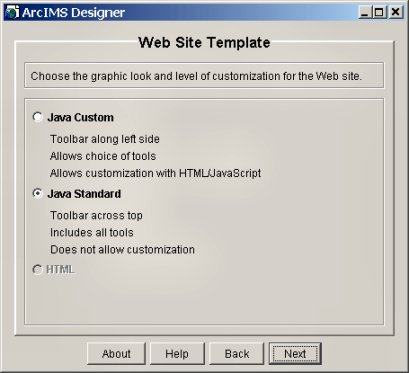 [O-Image] Select the Java Standard template