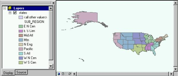[O-Image] States after region, ArcMap