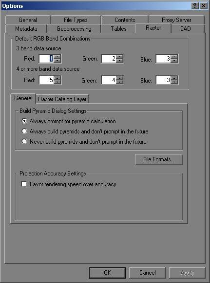 [O-image] ArcCatalog > Tools > Options dialog