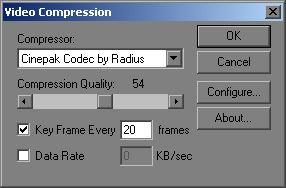 [O - Image] AVI Export codec screen