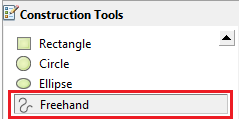 Select the Freehand option in Construction Tools.