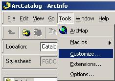 [O-Image] [O-image] ArcMap Tools > Customize