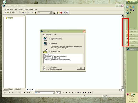 [O-image] Hidden ArcMap Tools toolbar