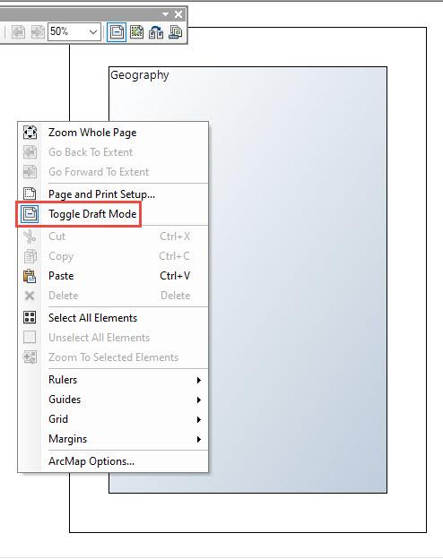 image of Toggle Draft Mode menu option