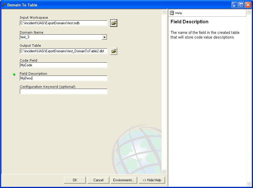 [O-image] Completed Domain To Table dialog box