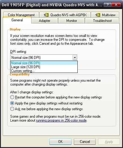 [O-image] Graphics driver properties dialog box