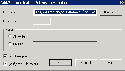 [O-Image] Add/Edit Application Extension Mapping dialog box