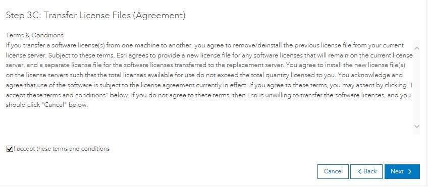 Image of the Terms and Conditions section