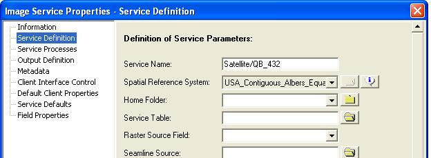 [O-Image] Image Service Properties dialog box