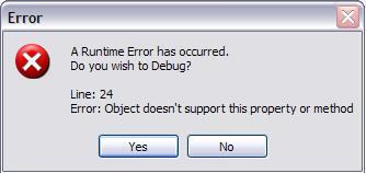 [O-Image] Microsoft Debugger Error Example