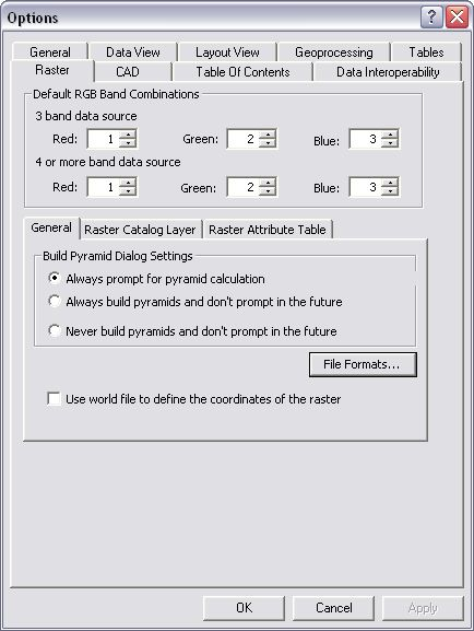 [O-Image] Raster tab in Options dialog