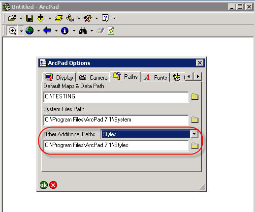 [O-Image] ArcPad Option Styles
