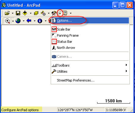 [O-Image] ArcPad Options dialog