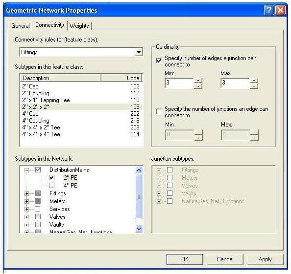 [O-Image] Configured Geometric Network Properties dialog box