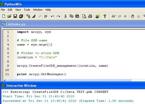 Error: Python script execution fails with