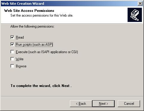 [O-Image] Web Site Access Permissions