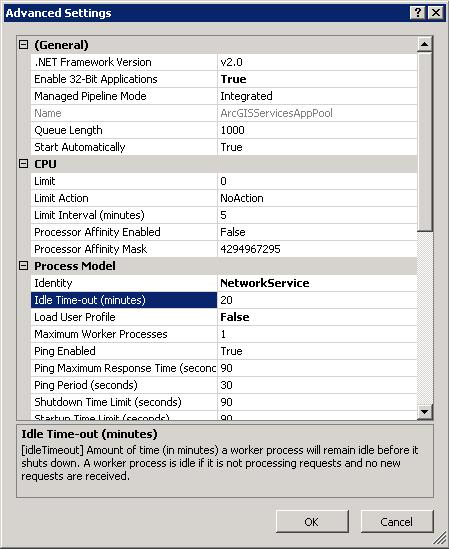 [O-Image] IIS7 Application Pool Advanced Settings