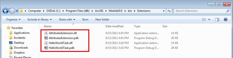 [O-Image] ArcGIS Mobile Install folder