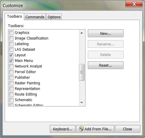 Problem: Missing toolbar