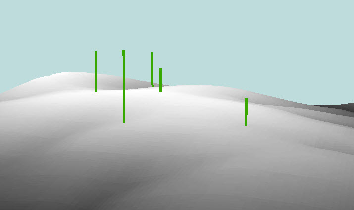 Image showing extruded points in 3D lines