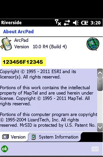 How To: Find the ArcPad registration code on Windows Mobile devices