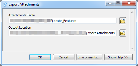 An image of the Export Attachments dialog box.