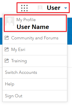 Drop-down arrow of My Profile