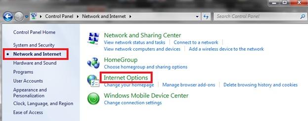 [O-Image] Internet Options