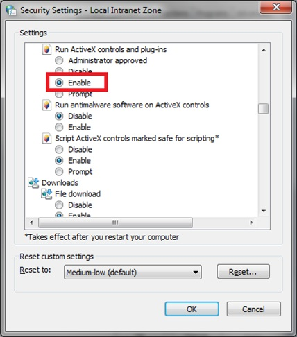 [O-Image] ActiveX controls and plugins enable