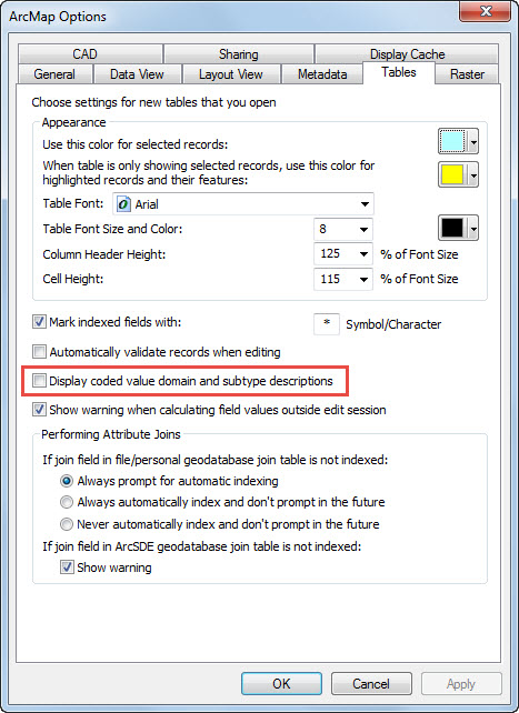 Change the setting through the ArcMap Options dialog box