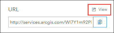 Click View to open the ArcGIS REST Directory page.