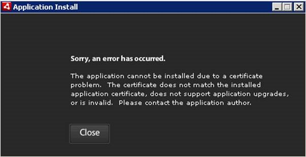 [O-Image] AIR certificate invalid