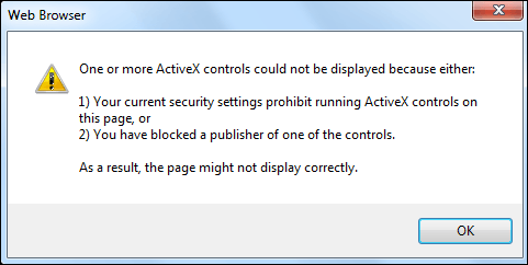 Problem: Issues with ActiveX controls when launching ArcMap