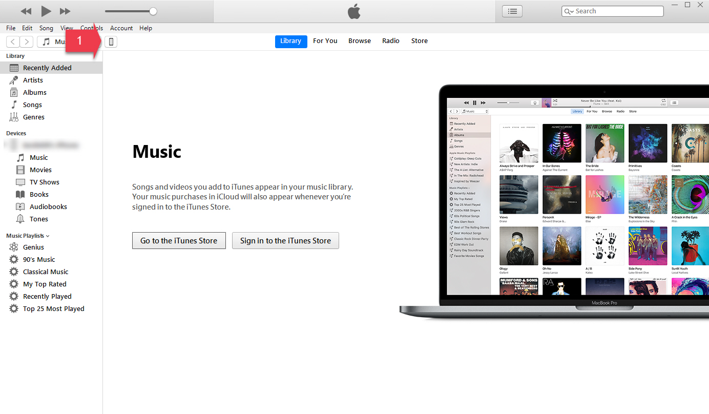 iTunes settings interface