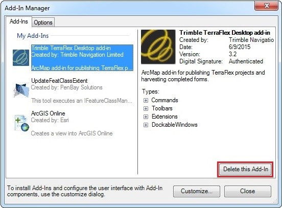 Image of the Add-In Manager dialog box