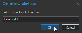 Create a new label class, named Label_odd