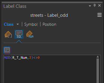 Type the query into the Label Class query text box