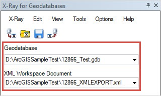 The Geodatabase and XML Workspace Document fields