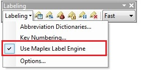 Use Maplex Label Engine option.