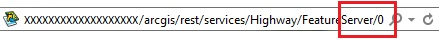Service URL in the browser's address box