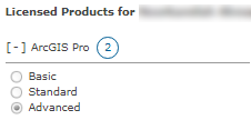 Select ArcGIS Pro license type