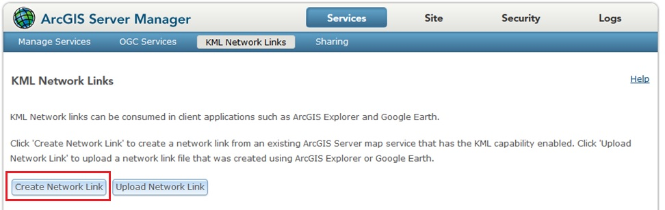 Image of arcgis server manager