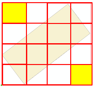 Image showing diagonal data and a grid, displaying where data would not publish.