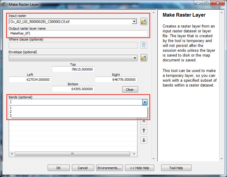 How To: Extract a single band from a multiple band raster