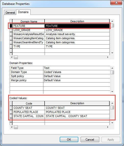 Database Properties window